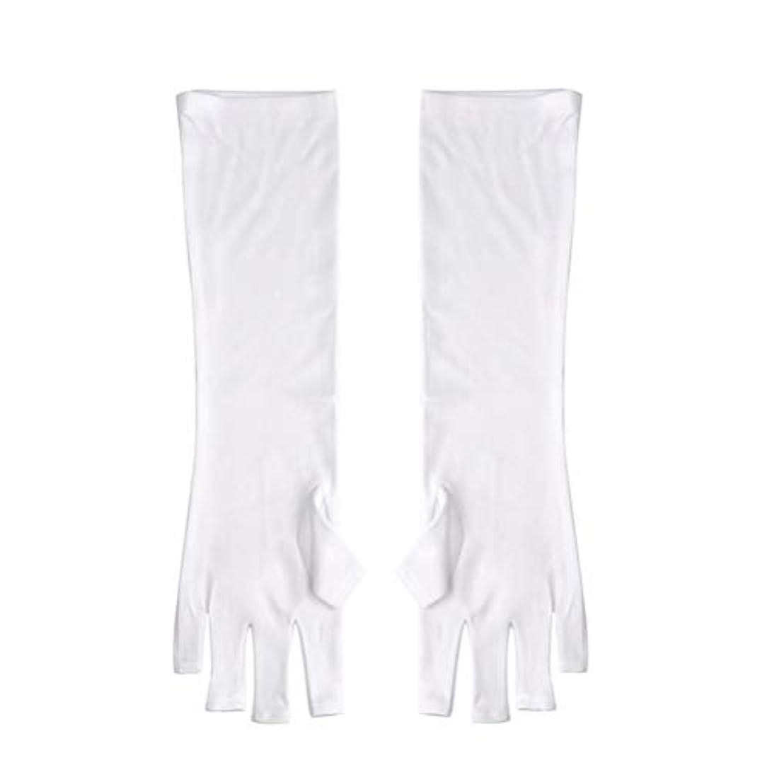 伸ばす面放射性Frcolor ネイルUVシールド手袋 ネイルアートグローブ 紫外線防止 マニキュア抗UVグローブ 半指 手保護 マニキュアドライヤーツール