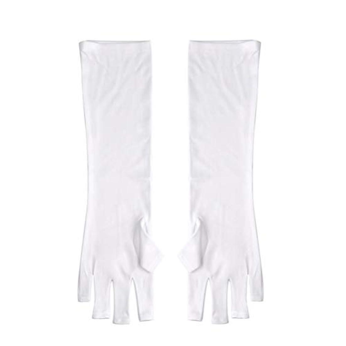集中言い直すアルコールFrcolor ネイルUVシールド手袋 ネイルアートグローブ 紫外線防止 マニキュア抗UVグローブ 半指 手保護 マニキュアドライヤーツール
