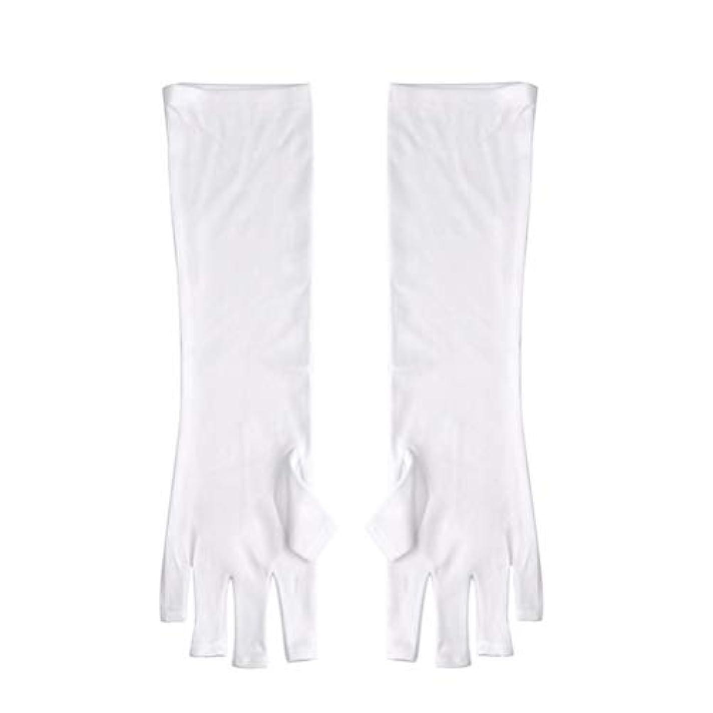 アラブチャームワイプFrcolor ネイルUVシールド手袋 ネイルアートグローブ 紫外線防止 マニキュア抗UVグローブ 半指 手保護 マニキュアドライヤーツール