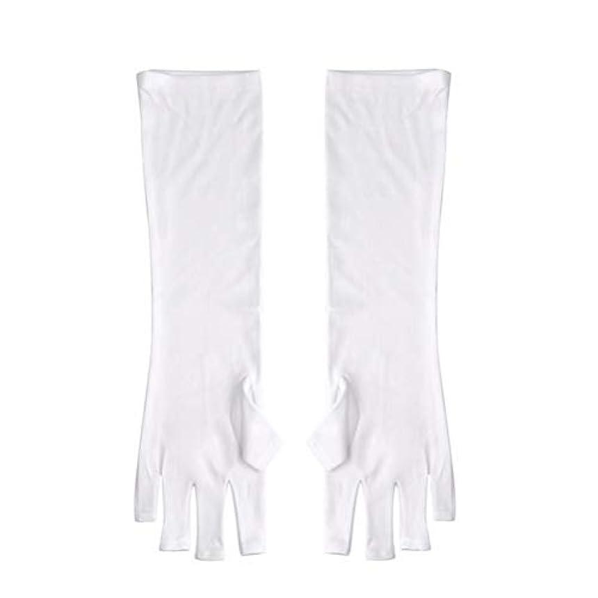 同情観光に行くとティームFrcolor ネイルUVシールド手袋 ネイルアートグローブ 紫外線防止 マニキュア抗UVグローブ 半指 手保護 マニキュアドライヤーツール