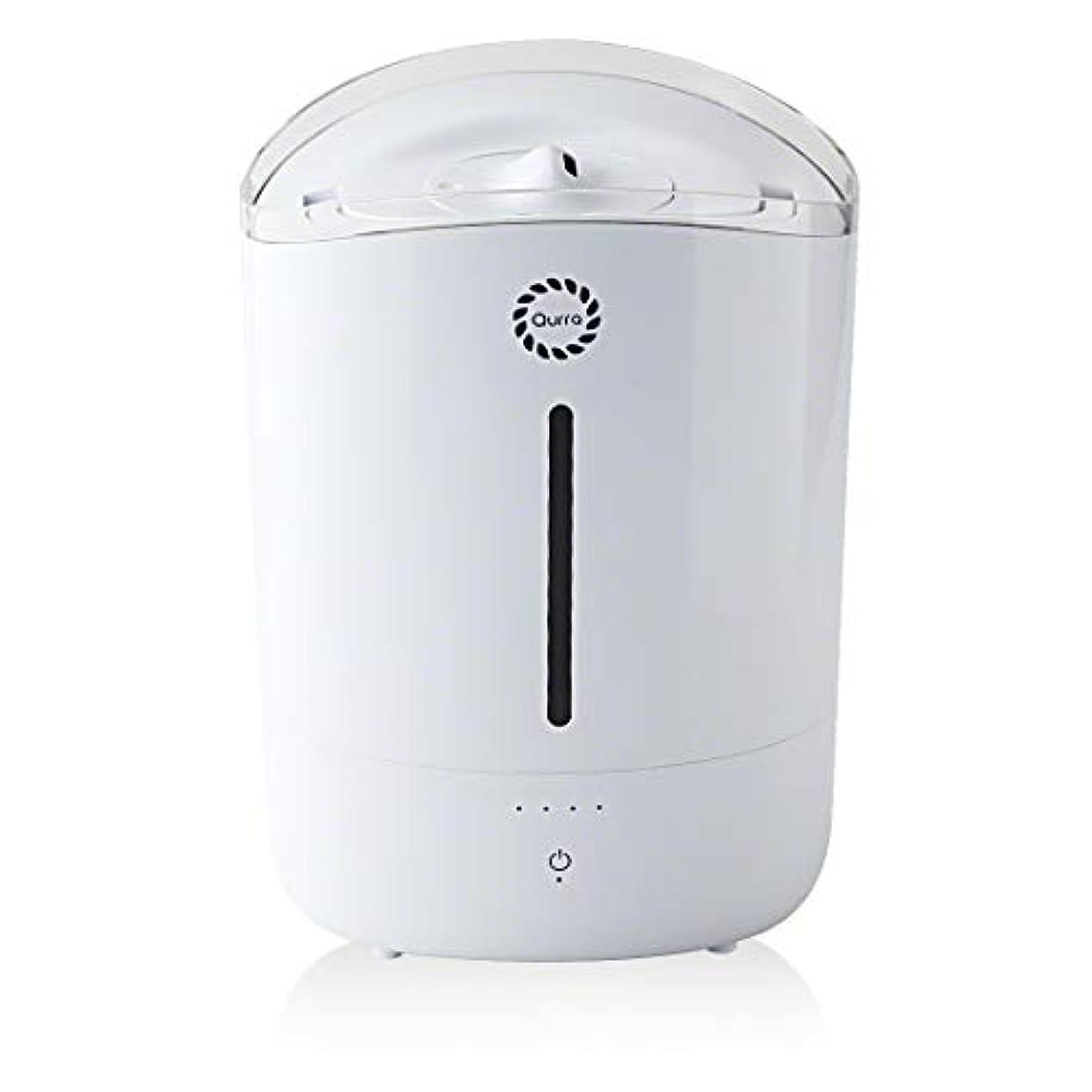 バルブ美しい苦情文句クルラ(Qurra) 大容量 5L アロマデフューザー 上部給水タイプ 加湿調整 250ml/h 省エネ ブザー機能 PSE 超音波 アロマ対応 加湿器 ホワイト