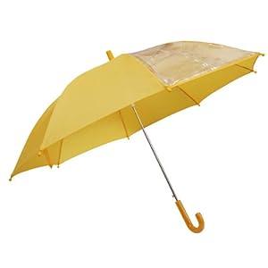前が見える! 子供傘 黄色