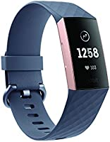 Fitbit FB410GMWT-CJK Charge 3, Graphite/White Silicon