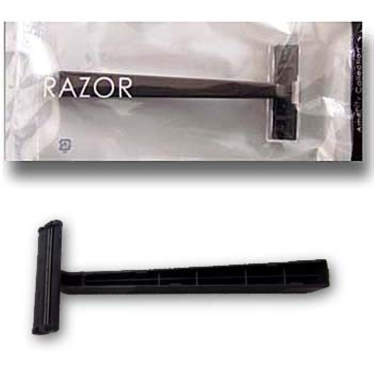 励起頑張るどこにでもホテル業務用 カミソリ クリアシリーズ 2枚刃 黒ハンドル (1セット250本入)