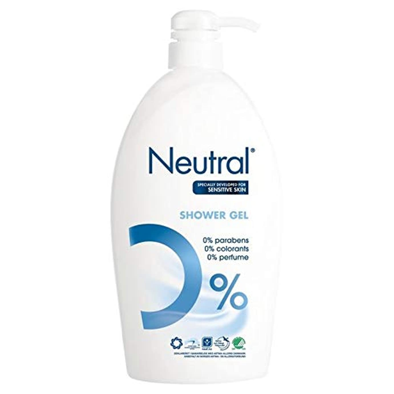 ナサニエル区場合争い[Neutral ] ニュートラル0%シャワーゲル1リットル - Neutral 0% Shower Gel 1L [並行輸入品]