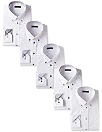 [アトリエサンロクゴ] ワイシャツ 5枚セット 形態安定 長袖 at-at101