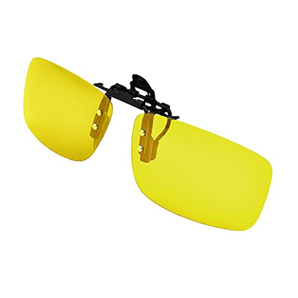 揃える好みとは異なりサングラス,RedCloud クリップオン UV400サングラス 前掛け偏光レンズ メガネにつける イェロー