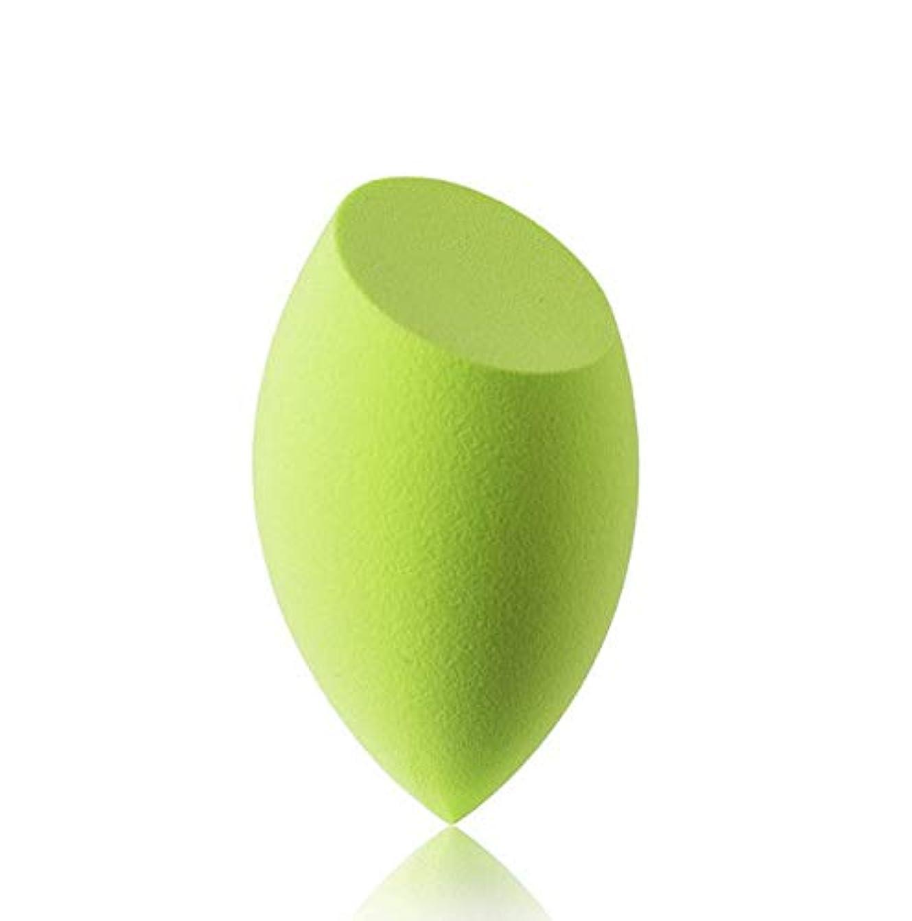肥沃な開始午後美容スポンジ、ソフトブルー、グリーン美容エッグメイクブレンダーファンデーションスポンジ (Color : グリンー)
