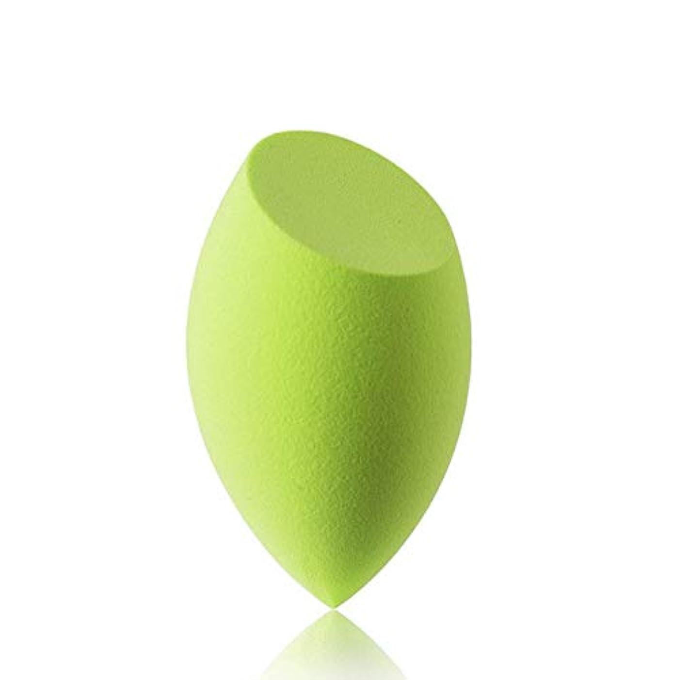 社会科降臨ハイジャック美容スポンジ、ソフトブルー、グリーン美容エッグメイクブレンダーファンデーションスポンジ (Color : グリンー)