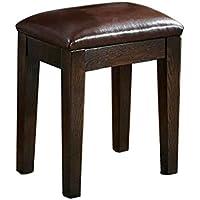 QFF ソリッドウッドの靴のベンチ、ピアノをプレイメイクアップベッドルーム家庭用スツール38 * 28 * 45CM 多層 (色 : Red, サイズ さいず : 38 * 28 * 45CM)