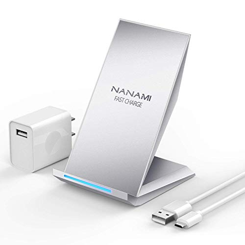 NANAMI Qi急速ワイヤレス充電器セット 「QC 2.0アダプター付属」 2コイル Quick Charge 2.0...