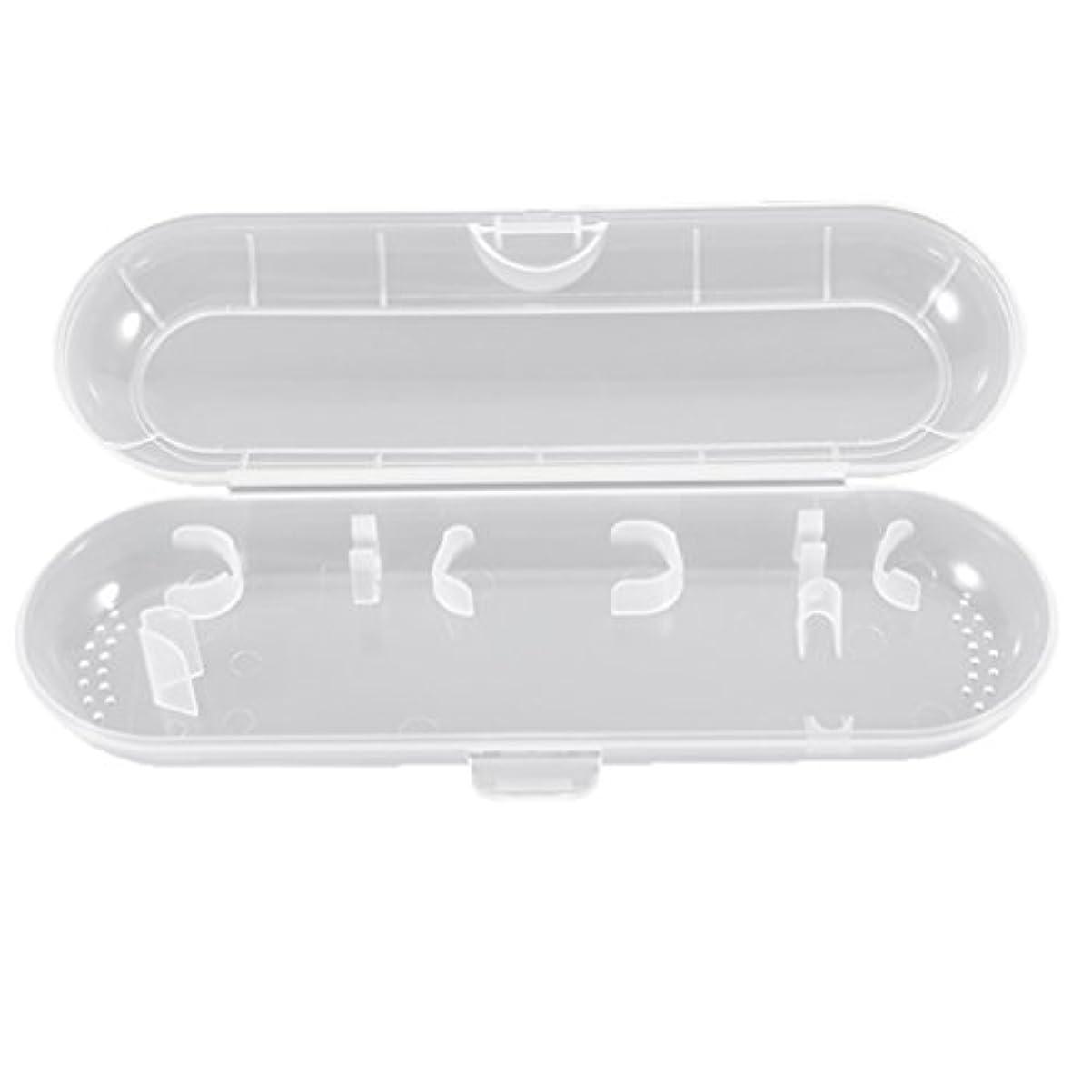 カメ候補者倫理的Honel 透明 電動歯ブラシ収納ボックス プラスチック 電動歯ブラシケース 収納ケース ブラウン オーラルB対応