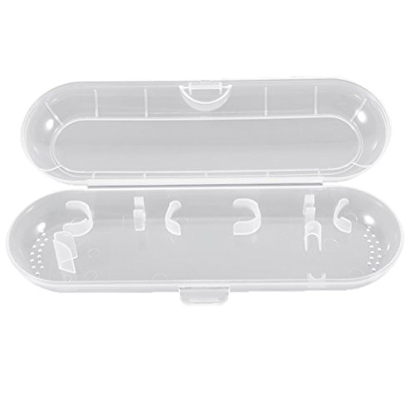 電子起きる苦しみHonel 透明 電動歯ブラシ収納ボックス プラスチック 電動歯ブラシケース 収納ケース ブラウン オーラルB対応