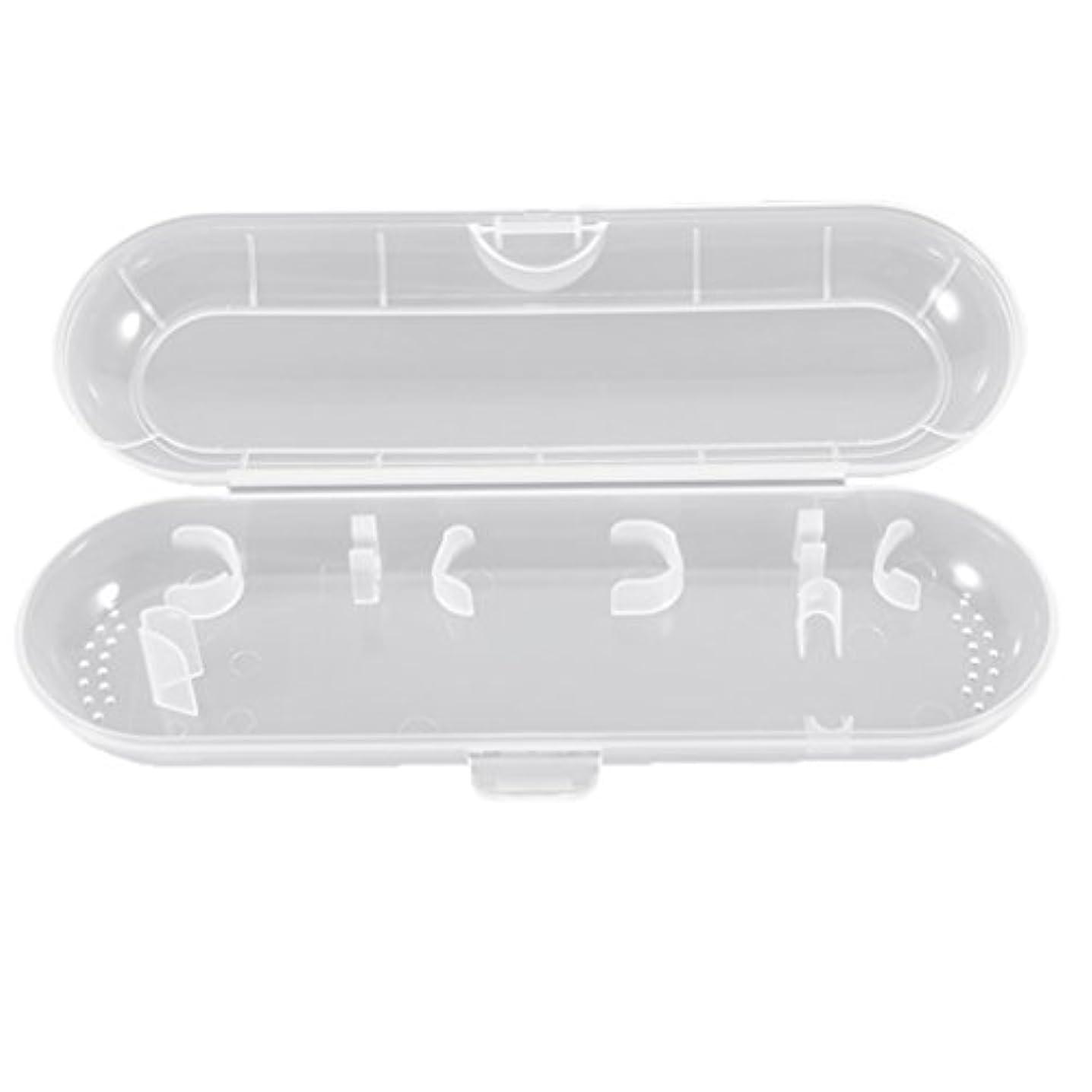 避難思春期の安定Honel 透明 電動歯ブラシ収納ボックス プラスチック 電動歯ブラシケース 収納ケース ブラウン オーラルB対応