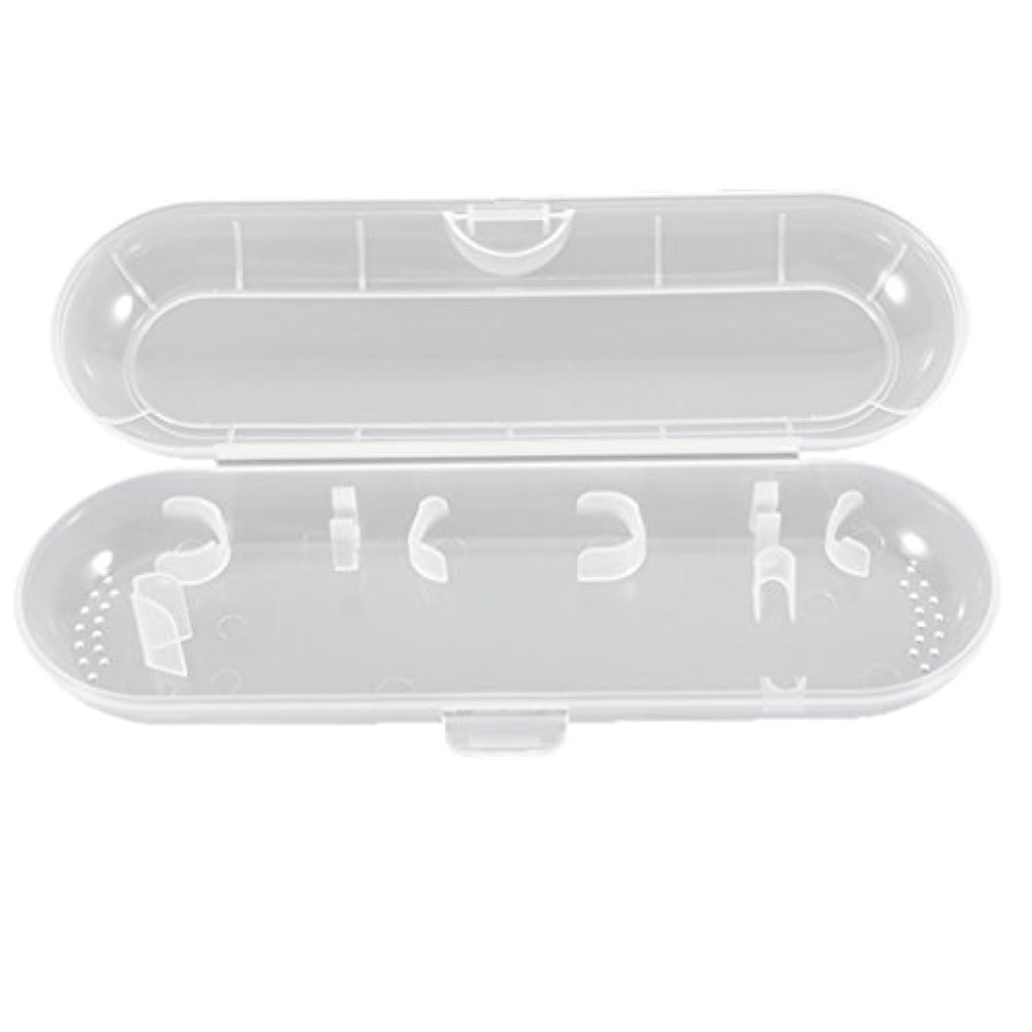 うめき費用消費者Honel 透明 電動歯ブラシ収納ボックス プラスチック 電動歯ブラシケース 収納ケース ブラウン オーラルB対応
