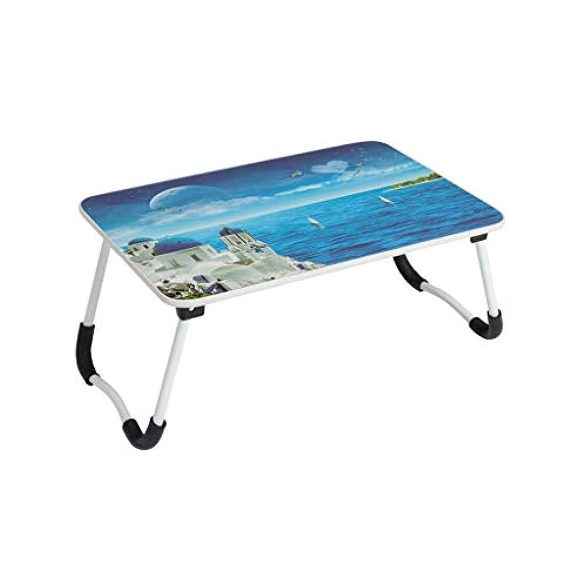 令状三番赤外線LIRIDP 折りたたみ式テーブルラップトップテーブル滑り止め脚折りたたみ式テーブルポータブルピクニックテーブル怠惰なベッドの机コンピュータデスク58.5cm×40.5cm×27.5cm (パターン : B)