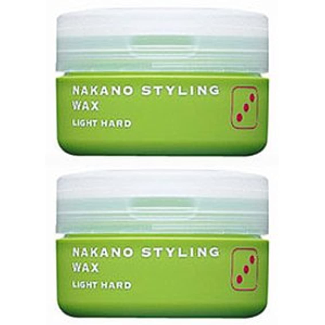 タブレット植生枯渇する【X2個セット】 ナカノ スタイリング ワックス 3 ライトハード 90g