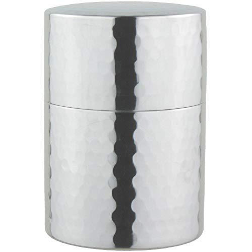 ナガオ『ステンレス槌目茶筒 ミラー』