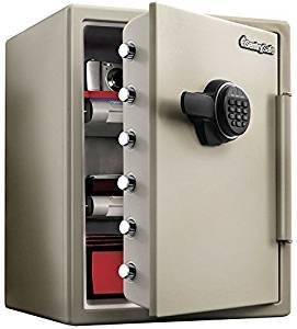 [해외]Sentry 내화 금고 (1 시간 내화) 숫자 식 무게 약 56kg 다부구레 JF205EV/Sentry fire-resistant safe (1 hour refractory) ten key Mass about 56 kg Dub gray JF 205 EV