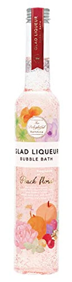 リングバック有彩色の冷酷なノルコーポレーション 入浴剤 バブルバス グラッドリキュール L 500ml ピーチフローラ GLR-2-2