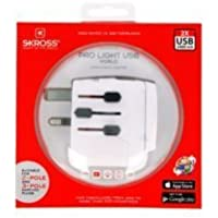 Skross PRO Light USB compact and powerful world travel with integrated dual USB charger [並行輸入品]