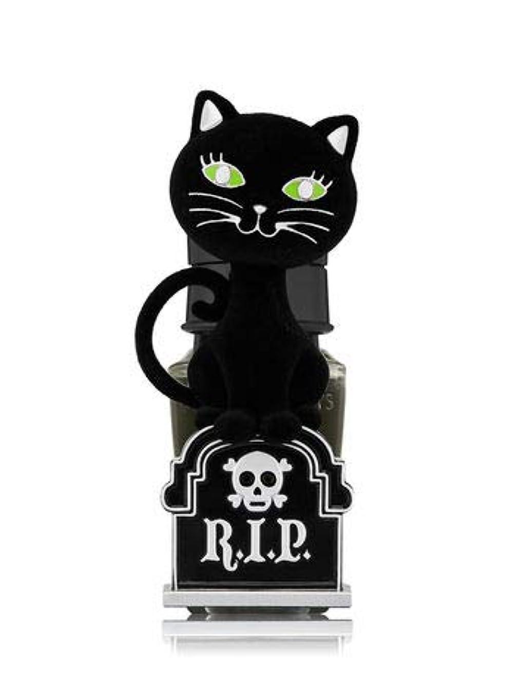 評議会典型的な水【Bath&Body Works/バス&ボディワークス】 ルームフレグランス プラグインスターター (本体のみ) ハロウィン 黒猫 ナイトライト Wallflowers Fragrance Plug Halloween...