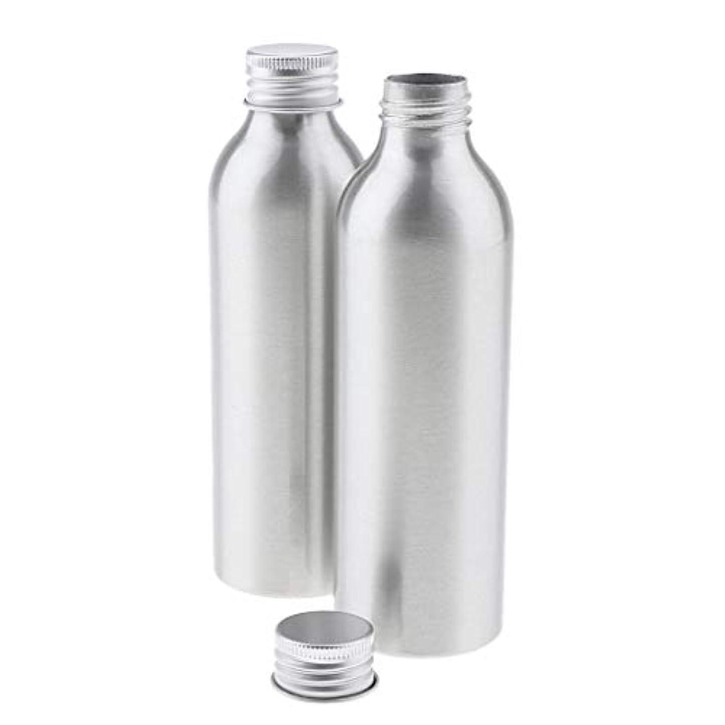 遺棄された韓国語曇った2本 アルミボトル シルバー 空ボトル 化粧品収納容器 ディスペンサーボトル 5サイズ選べ - 150ml