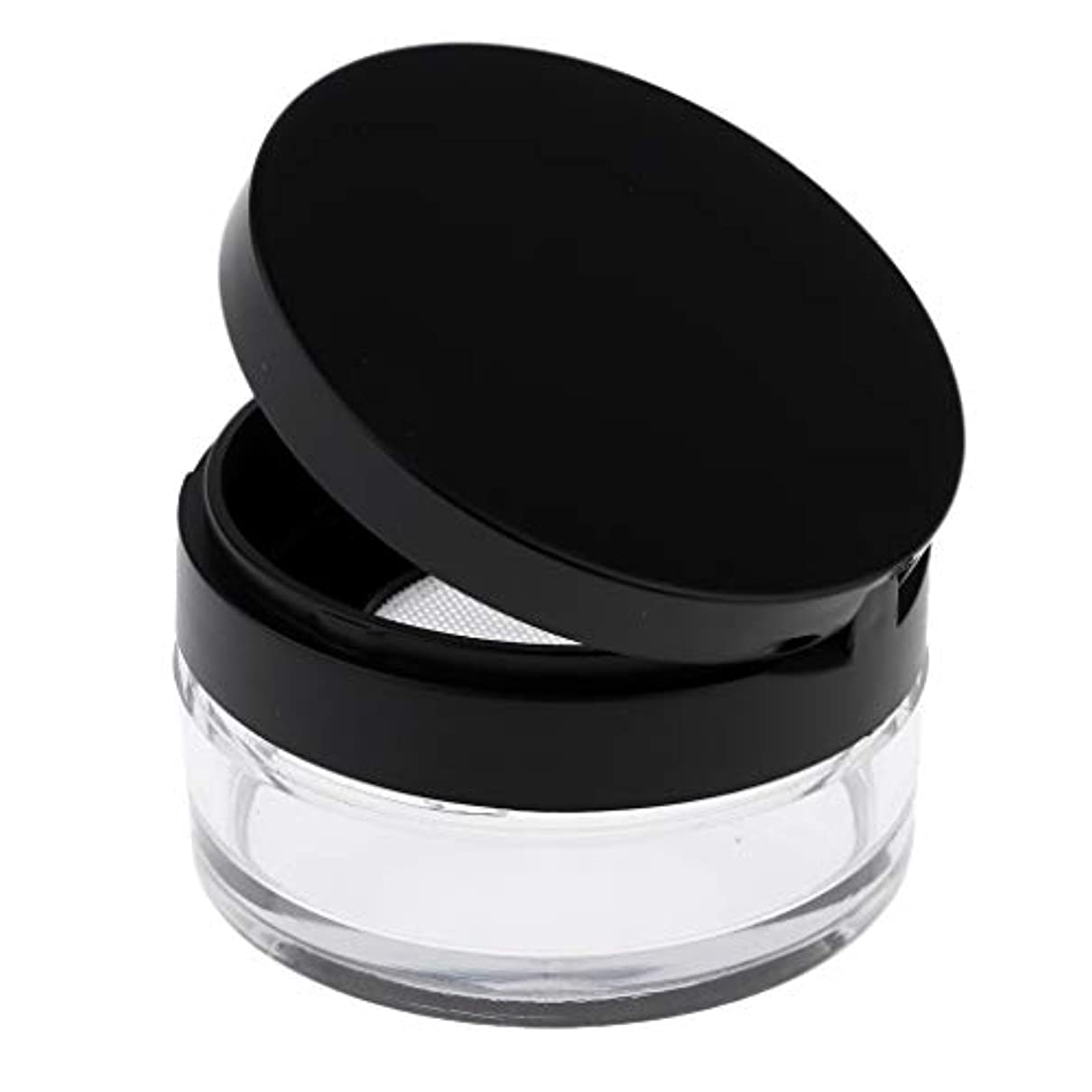 ストレージ首やりがいのあるP Prettyia 空 メイクアップ ルースパウダーケース 化粧品容器 全2色 - ブラックL