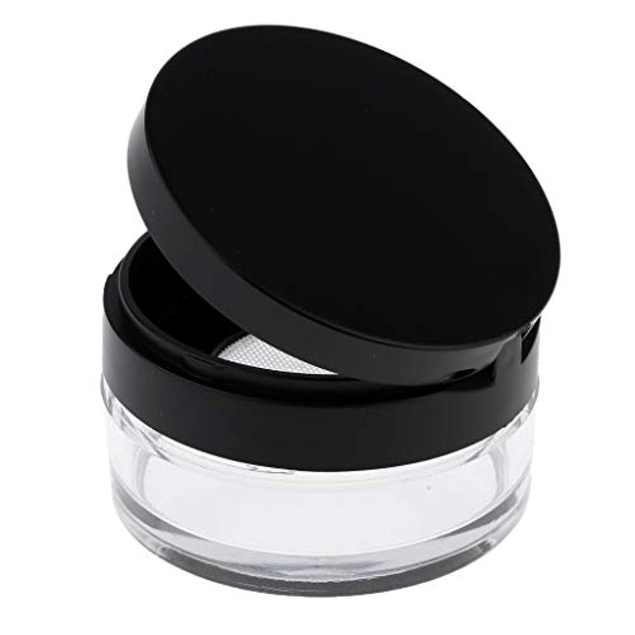 文作物かもしれないP Prettyia 空 メイクアップ ルースパウダーケース 化粧品容器 全2色 - ブラックL