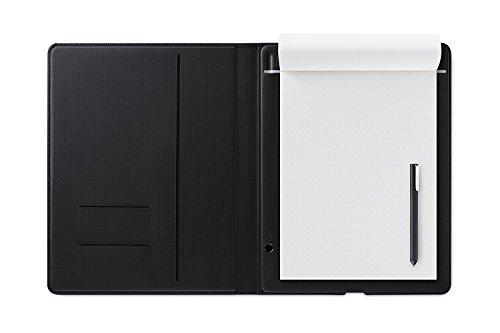 ワコム スマートパッド Bamboo Folio small(A5対応)ダークグレー ボールペンで好みの紙に書いて、デジタル形式のメモを作成 CDS610G