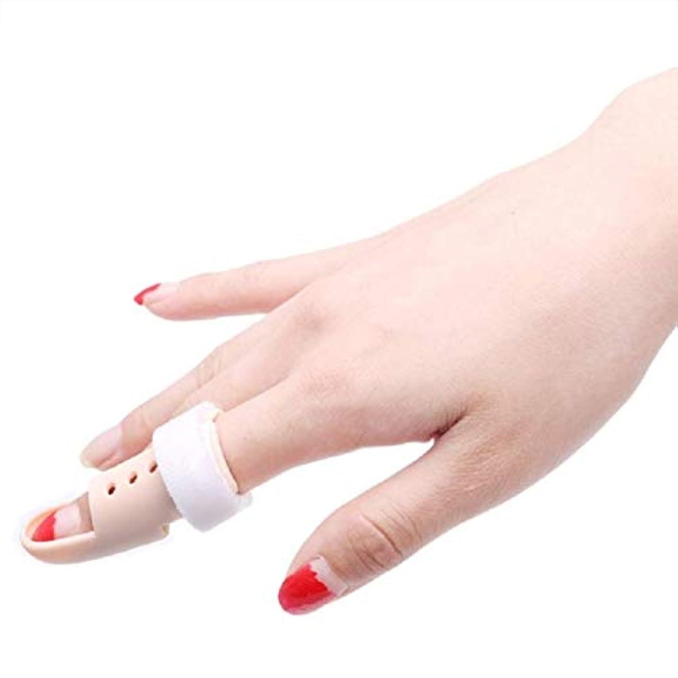 平らにする保証潜むサポートスプリントは、ばね指スプリント、マレットフィンガーブレースは、痛みを和らげる指 (Size : L)