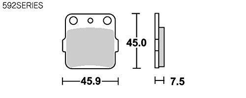 SBS ブレーキパッド 592HF セラミック RM125 KX65 KX80 KX85 KSR110 777-0592000