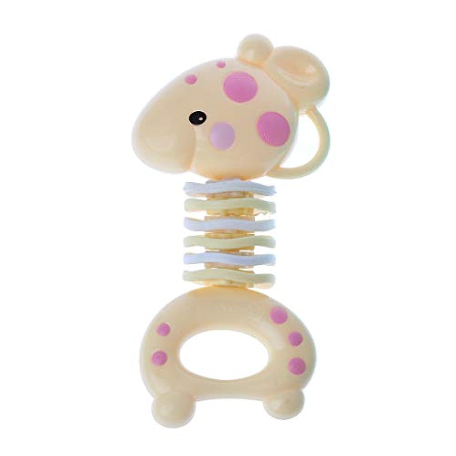 Landdumシリコーン歯が生える癒しのおもちゃ赤ちゃんのおしゃぶりスティック固体の歯の赤ちゃんのガラガラのおしゃぶり玩具グッタ臼歯バーベル - カニ