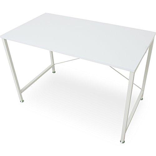 RoomClip商品情報 - LOWYA (ロウヤ) デスク 机 パソコンデスク オフィスデスク 木製 角丸加工 幅110cm 奥行60cm ホワイト 新生活