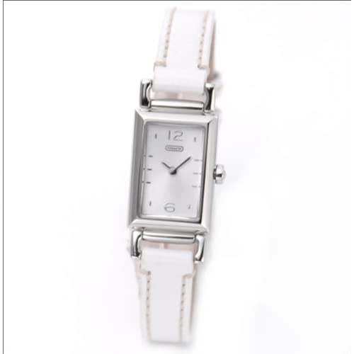 [コーチ] COACH 腕時計 スクエアフェイス レディース レザーストラップウオッチ 14501593 [並行輸入品]