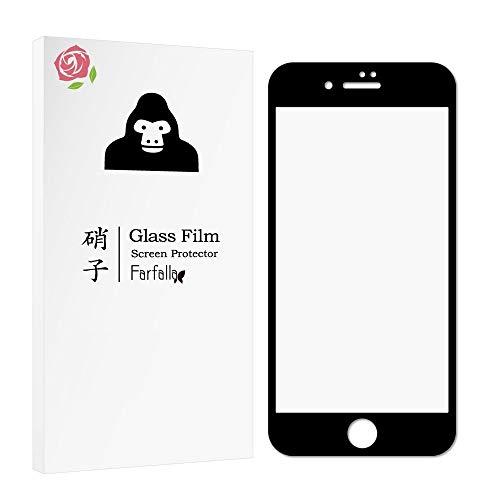 【全面保護ガラスフィルム】iPhone 8 / iPhone 7 ハイブリッドケース付き CORNING GORILLA GLASS 5使用 オ...