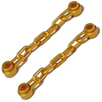 LEGOブロック?純正パーツ<道具>チェーン(5 Links / 46mm) (2個, Pearl Gold) [並行輸入品]