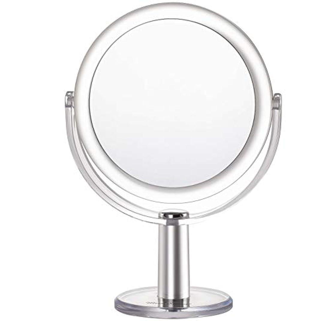 セレナ判読できない行列Miss Sweet 5倍拡大鏡付き スタンドミラー 卓上化粧鏡 両面鏡 1倍*5倍 (Color 2 (1倍*5倍))