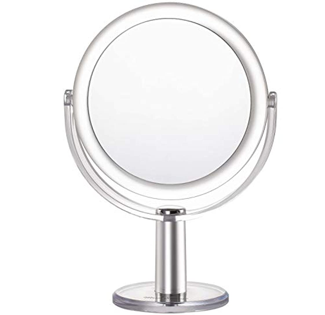 スペード空のデザートMiss Sweet 5倍拡大鏡付き スタンドミラー 卓上化粧鏡 両面鏡 1倍*5倍 (Color 2 (1倍*5倍))