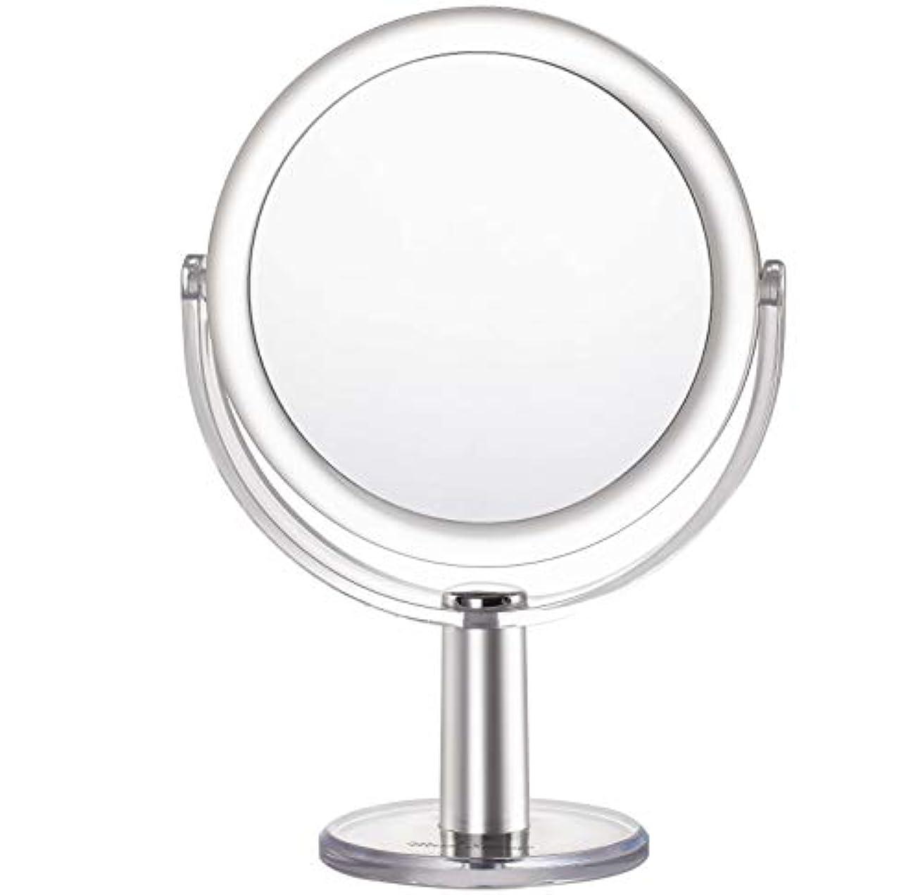 リスタワーマイナスMiss Sweet 5倍拡大鏡付き スタンドミラー 卓上化粧鏡 両面鏡 1倍*5倍 (Color 2 (1倍*5倍))