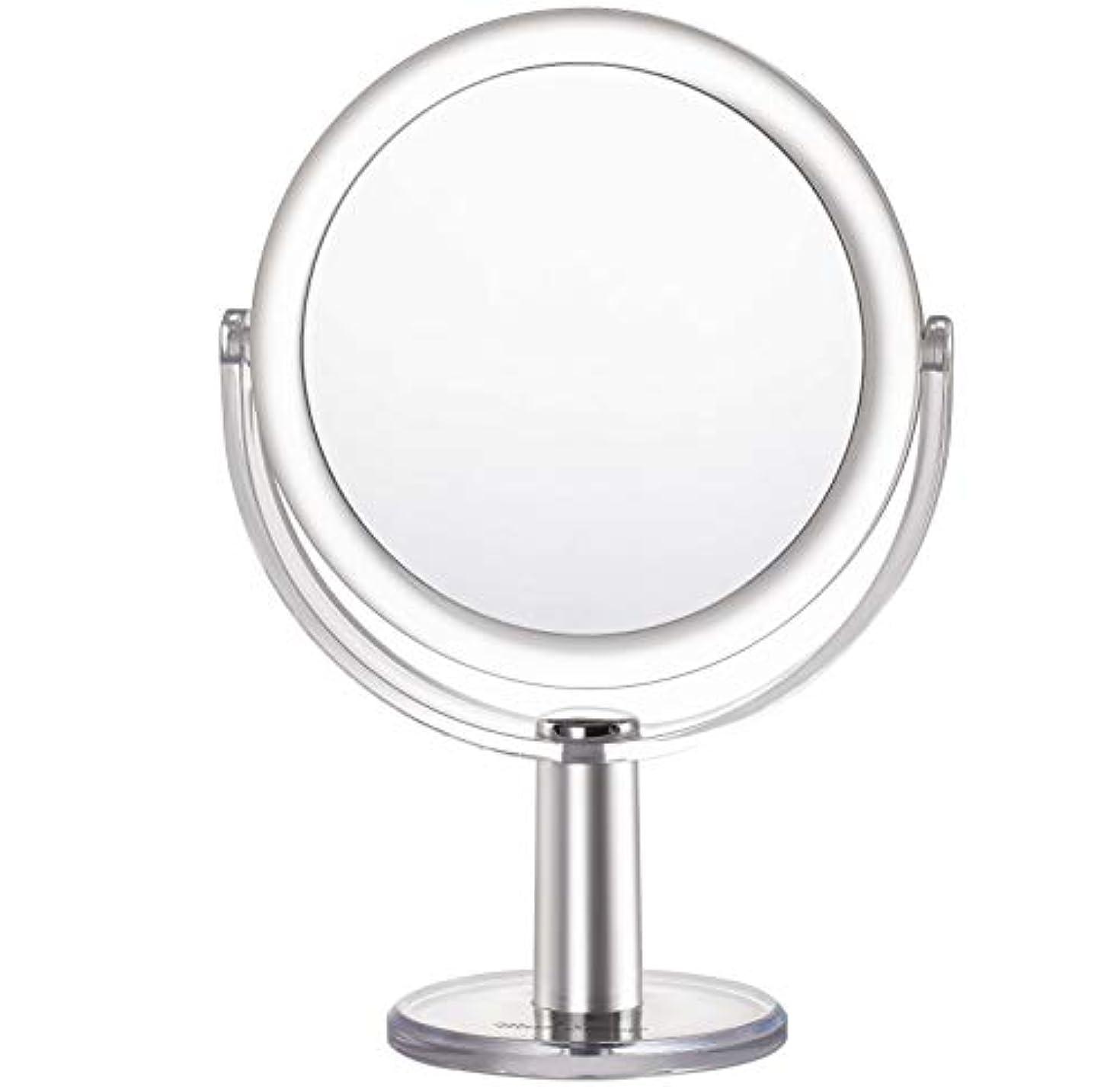 ホールドオール遊びます韻Miss Sweet 5倍拡大鏡付き スタンドミラー 卓上化粧鏡 両面鏡 1倍*5倍 (Color 2 (1倍*5倍))