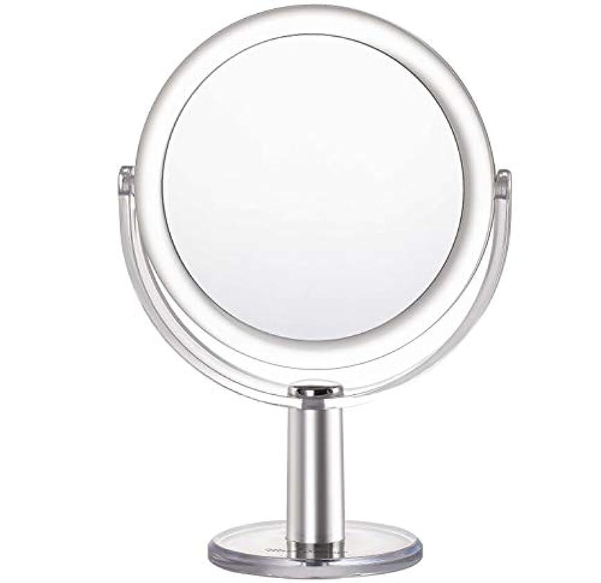 一瞬見物人地下鉄Miss Sweet 5倍拡大鏡付き スタンドミラー 卓上化粧鏡 両面鏡 1倍*5倍 (Color 2 (1倍*5倍))