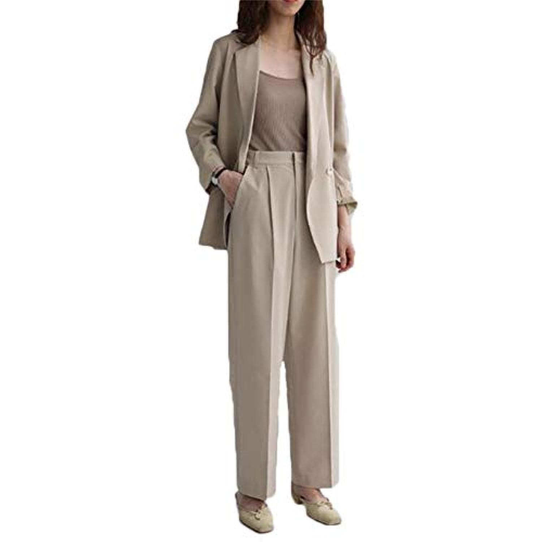 レディース スーツ 洋服 セットアプ 秋 冬 二点セット コート ジャケット ズボン カジュアル ビジネス ゆったり