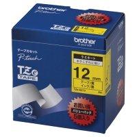 ブラザー ピータッチ TZeテープ ラミネートテープ 12mm 黄/黒文字 業務用パック 1パック(