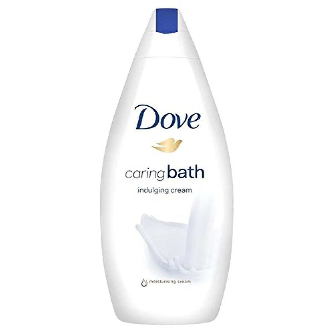 大洪水ヒゲクジラ精神思いやりのバス500ミリリットルをふける鳩 x4 - Dove Indulging Caring Bath 500ml (Pack of 4) [並行輸入品]