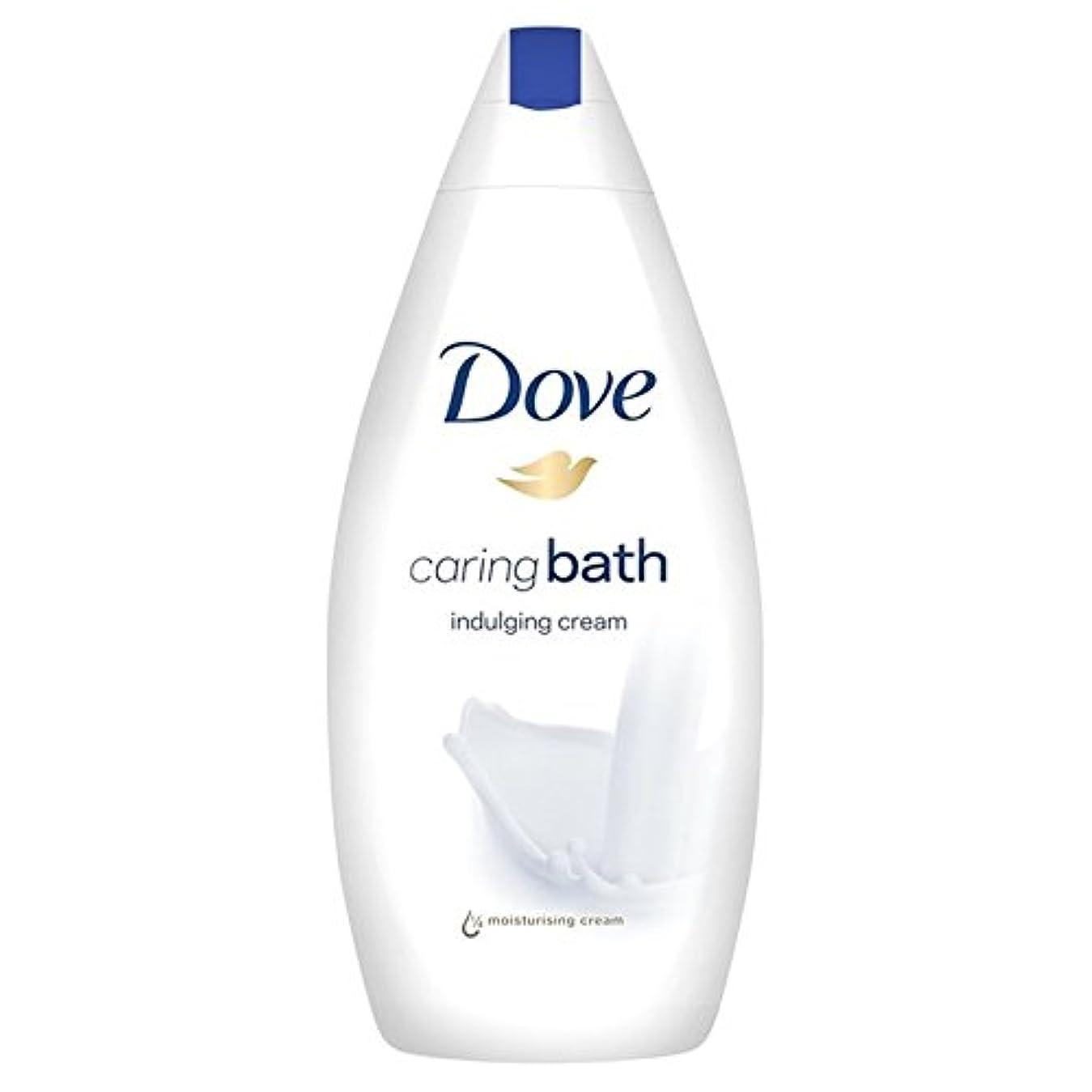 技術警察署無実思いやりのバス500ミリリットルをふける鳩 x4 - Dove Indulging Caring Bath 500ml (Pack of 4) [並行輸入品]