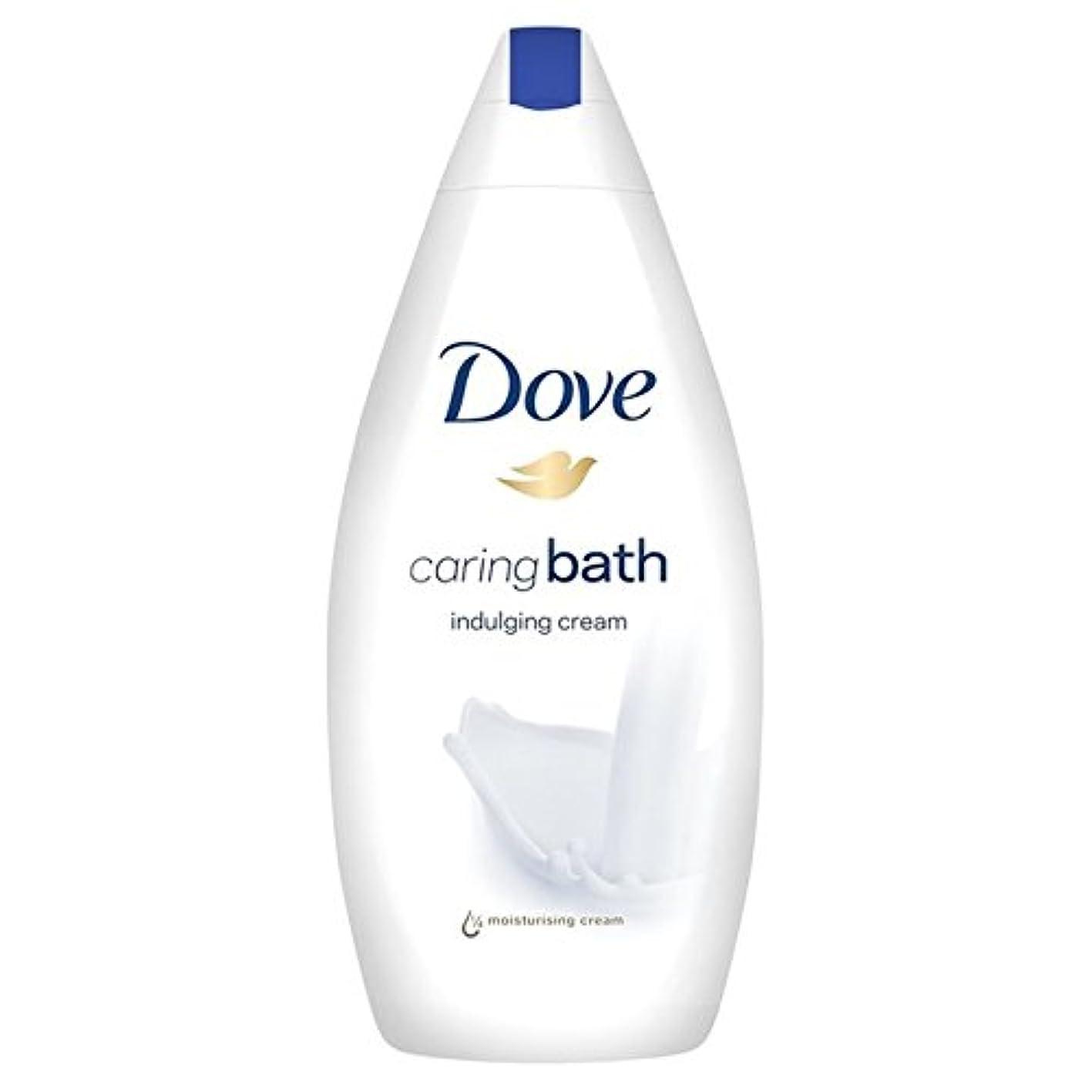 チューリップガチョウ相談思いやりのバス500ミリリットルをふける鳩 x4 - Dove Indulging Caring Bath 500ml (Pack of 4) [並行輸入品]