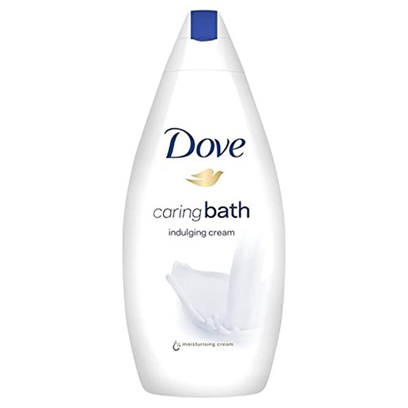 お金ゴム反動安価な思いやりのバス500ミリリットルをふける鳩 x2 - Dove Indulging Caring Bath 500ml (Pack of 2) [並行輸入品]