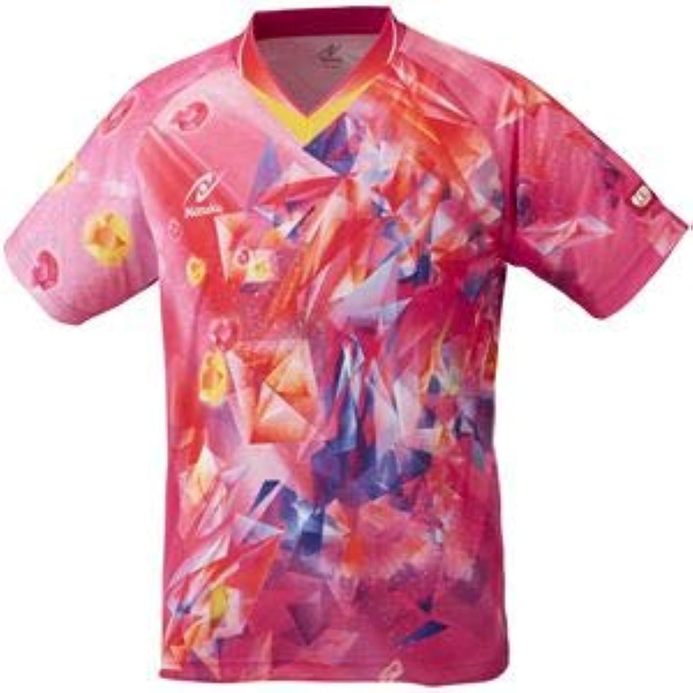 トレイル溶岩性能ニッタク(Nittaku)卓球アパレル UNI SKYCRYSTAL SHIRT(ユニスカイクリスタルシャツ)ゲームシャツ(男女兼用 ?ジュニアサイズ対応)NW2182 ピンク S