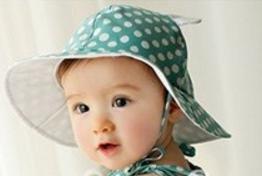 赤ちゃん 帽子 カワイイ 水玉 柄 ベビー キッズ くま 耳付き コットン ハット (グリーン)